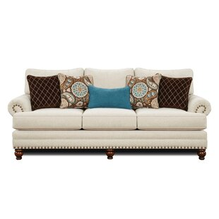 Rosborough White Linen Sofa