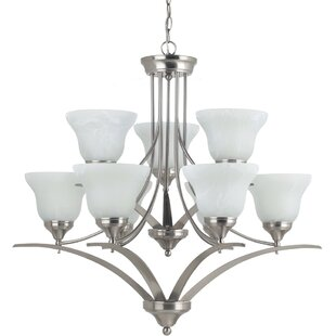 Andover Mills Sparland 9-Light Shaded Chandelier