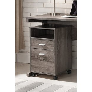 Smythe Wooden 2-Drawer Mobile Vertical Filing Cabinet