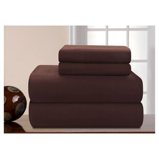Charlton Home Medaryville Heavy Weight Flannel Solid Sheet Set
