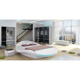 West Point Upholstered Storage Platform Bed with Mattress