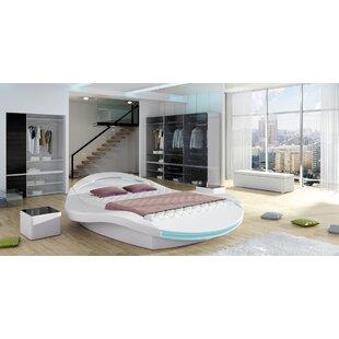 West Point Upholstered Storage Platform Bed with Mattress