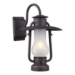 Burks 1-Light Outdoor Sconce by Longshore Tides