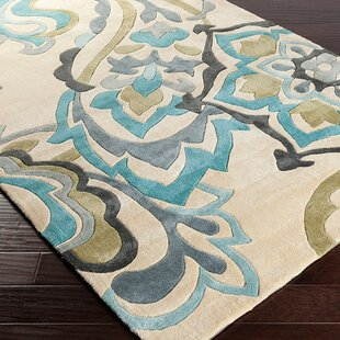 Windsor Sand/Teal Rug by Charlton Home