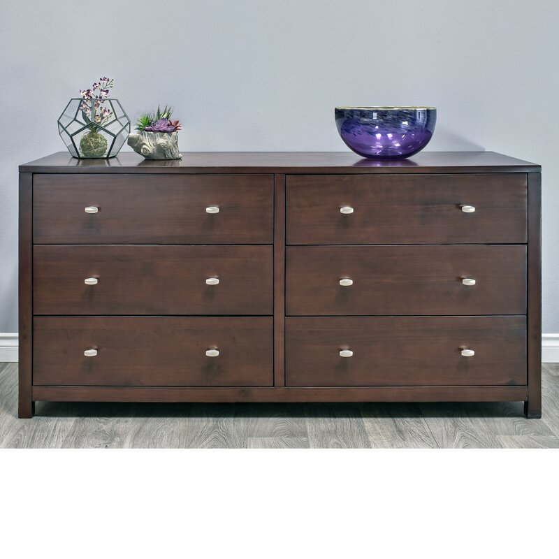 Parkrose 6 Drawer Double dresser with Mirror