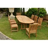 Boyette 9 Piece Teak Dining Set