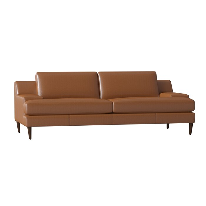 Cool Brickey Leather Sofa Pabps2019 Chair Design Images Pabps2019Com
