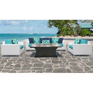 Miami 6 Piece Sofa Seating Group with Cushions
