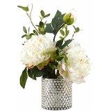 Peonies Glass Floor Flowering Plant in Decorative Vase