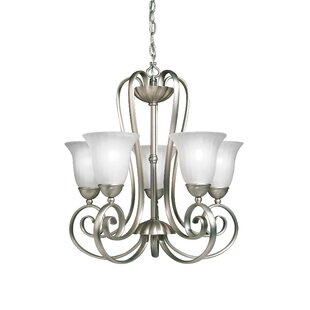Darby Home Co Bafford Traditional 5-Light Shaded Chandelier