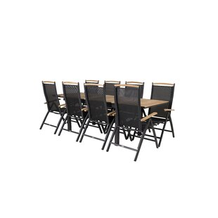 Anoki 8 Seater Dining Set By Ebern Designs