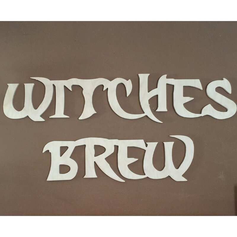 The Holiday Aisle Witch S Brew Halloween Wall Decor Wayfair