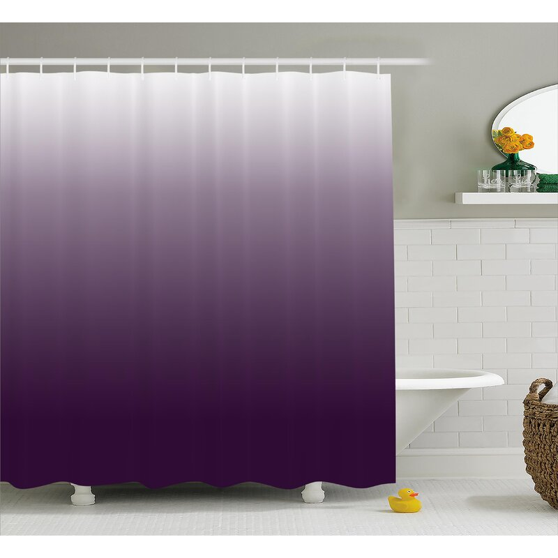 Ebern Designs Inspired Aubergine Inspired Decorations Shower Curtain ...