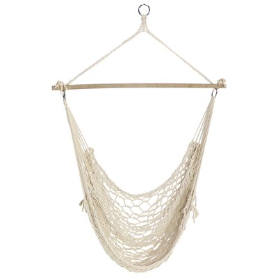 Beckwood Cotton Chair Hammock by Bungalow Rose #1