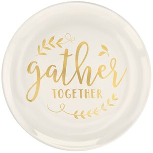 Autumn Gather Together Plastic Dinner Plate (Set of 10)