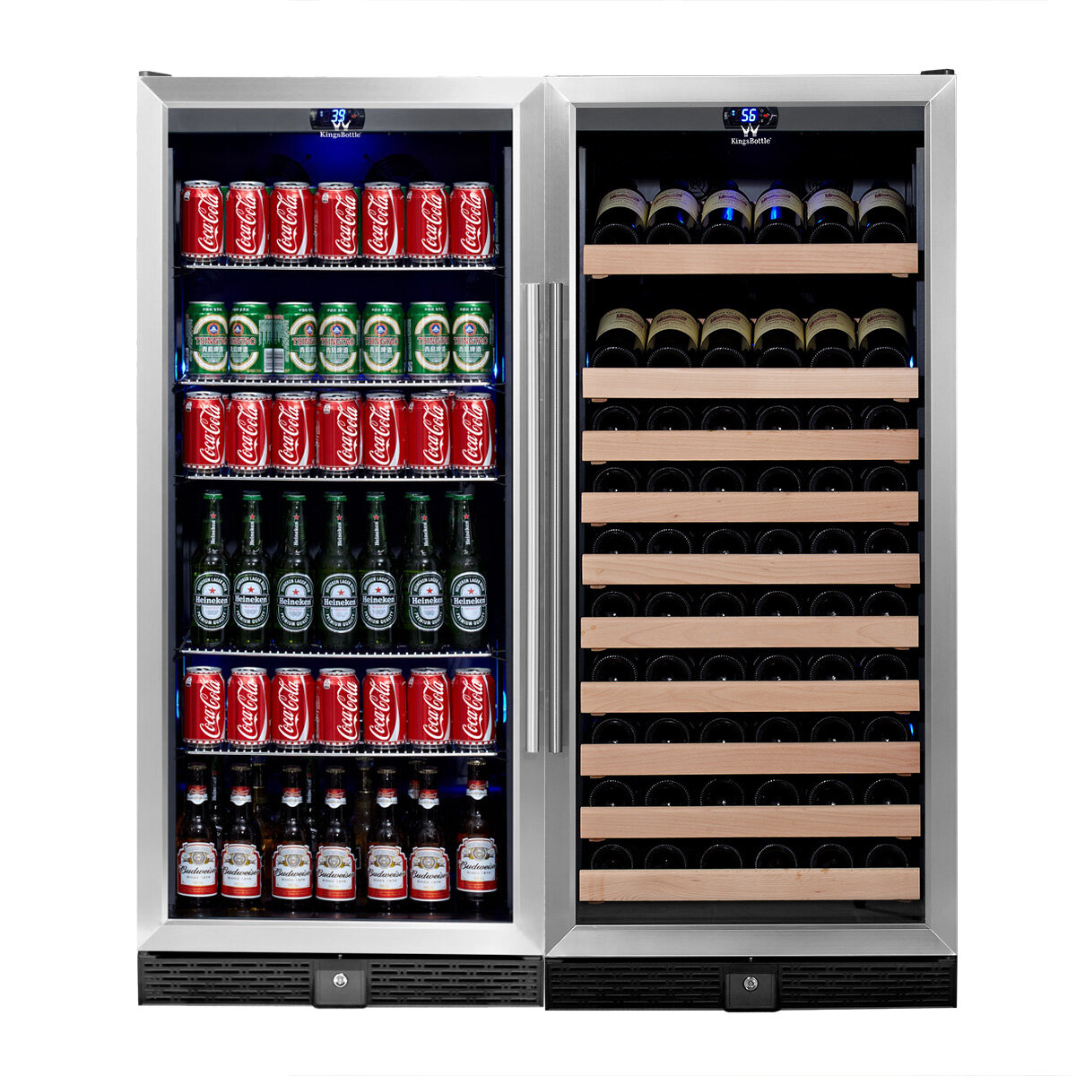 98 Bottle and 300 Can Dual Zone Built-In Wine and Beverage Center