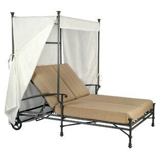 Woodard Nova Double Lounge Chaise with Conopy