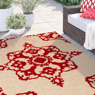 Barker Sand/Red Indoor/Outdoor Area Rug