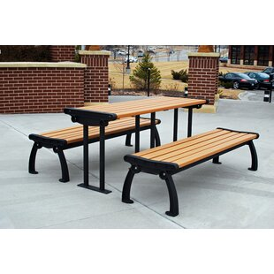 Frog Furnishings Heritage Recycled Plastic Picnic Table