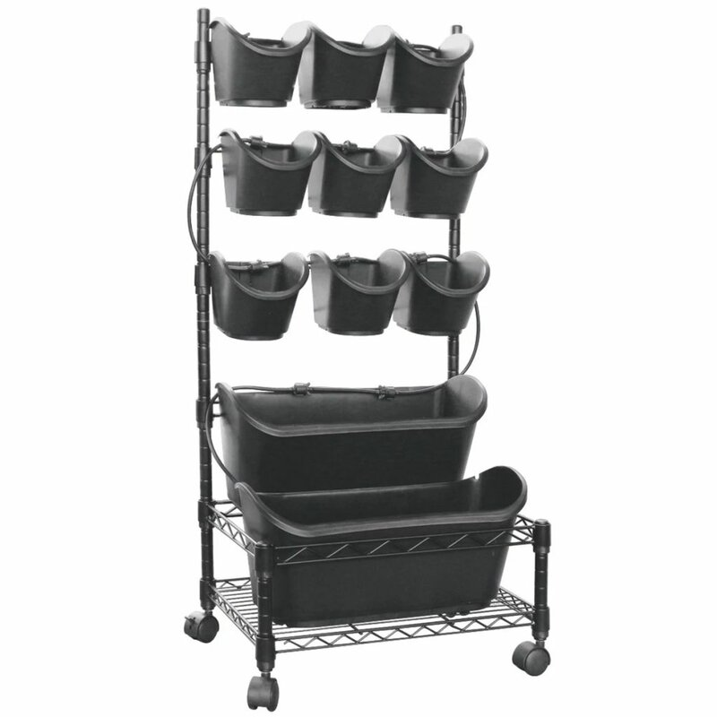 Freeport Park Nature Mobile Rack Metal Vertical Garden