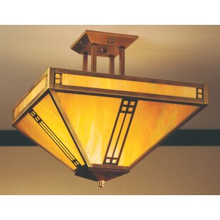 Arroyo Craftsman Prairie Semi Flush Mount
