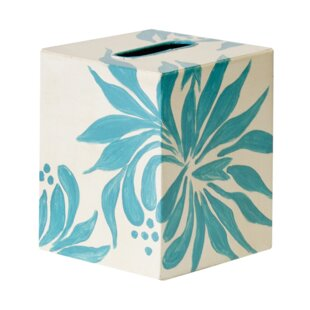 Worlds Away Floral Tissue Box Cover