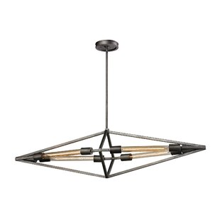 Brayden Studio Dunleavy 4-Light Geometric Chandelier