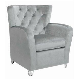 Cyra Velvet Upholstered Accent Armchair