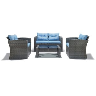 4 Piece Outdoor Conversation Set by Best Desu, Inc.