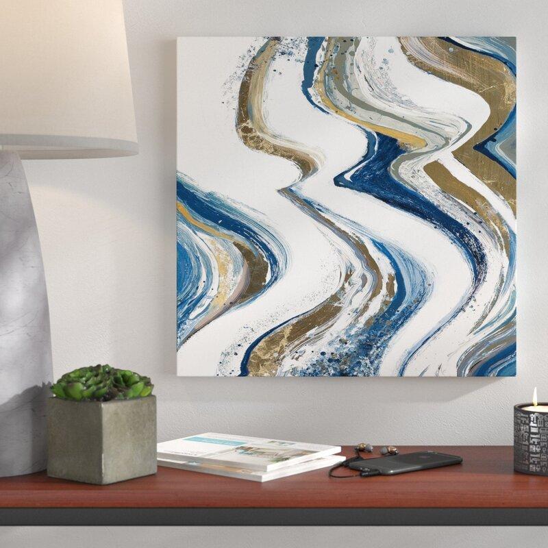 Wrought Studio New Concept Orange Abstract Acrylic Painting Print On Canvas Wayfair