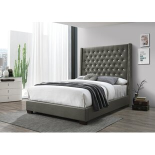 Aymerick Queen Tufted Upholstered Standard Bed by Latitude Run