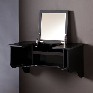 Agnew Wall Mount Dressing Table With Mirror By Ophelia & Co.