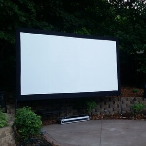"""Yard Master Series Dyna White 120"""" Diagonal Portable Projection Screen"""