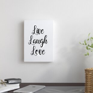 Live Laugh Love Textual Art On Wrapped Canvas