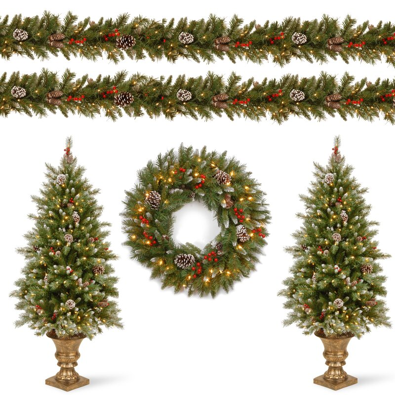 Frosted Berry Decorating Garland and Swag Kit Assortment