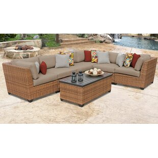Medina 7 Piece Outdoor Sectional Seating Group with Cushions