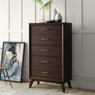 Zeta 5 Drawer Chest by Mercury Row