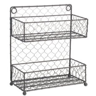 2 Row Chicken Wire Wide Spice Rack
