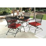 Beckford Mesh 5 Piece Dining Set with Cushions