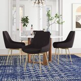 Curtis Velvet Upholstered Arm Chair (Set of 2) by Foundstone™