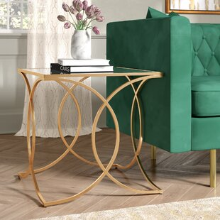 Dunlin Geometric End Table by Everly Quinn