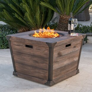 17 Stories Coomes Stone Propane Fire Pit Table