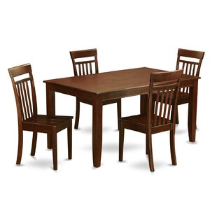 Dudley 5 Piece Solid Wood Dining Set by W..