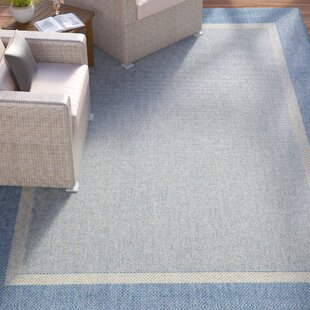 Linden Texture Blue/Gray Indoor/Outdoor Area Rug