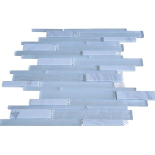 Loft Random Sized Marble and Glass Wood Look Tile