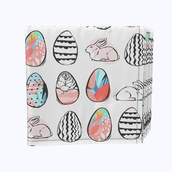 Fabric Textile Products Inc Napkin Set 100 Milliken Polyester Machine Washable Set Of 12 18x18 Flowering Trees And Blue Butterflies Wayfair