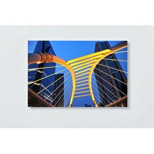 Skyline Motif Magnetic Wall Mounted Cork Board By Ebern Designs