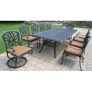 Darby Home Co Bosch Metal 11 Piece Dining Set with Cushions
