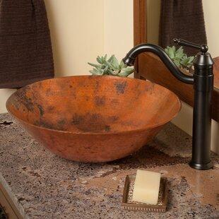 Novatto Catalonia Metal Circular Vessel Bathroom Sink with Faucet