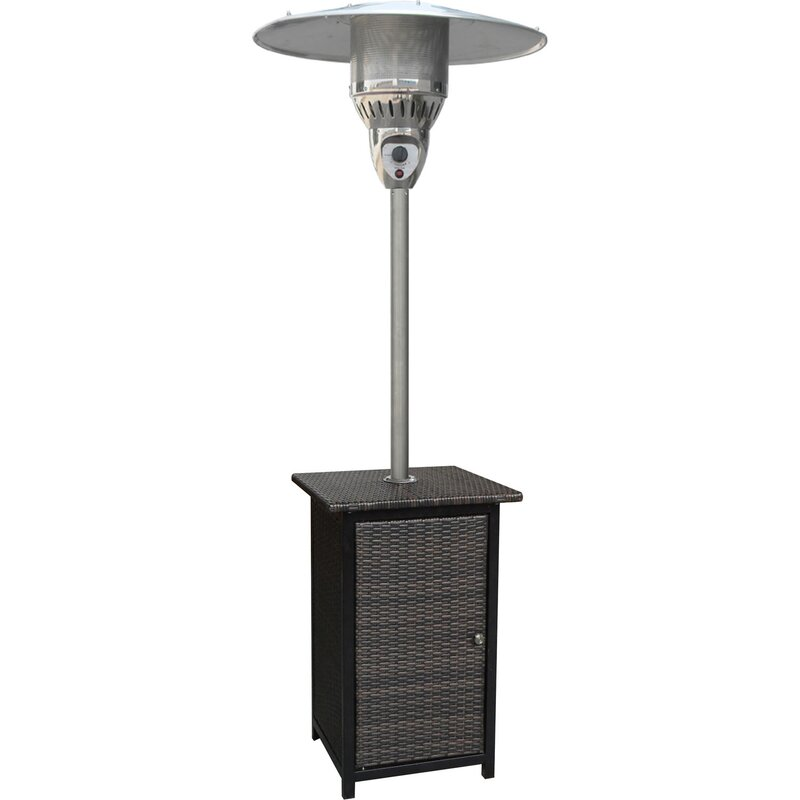 Hanover Square Wicker 41,000 BTU Propane Patio Heater & Reviews ...